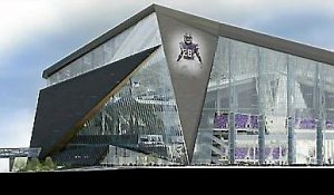 A rendering of the proposed Vikings stadium. (Courtesy Minnesota Vikings)