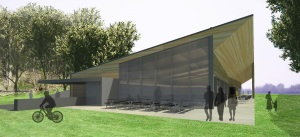 Here's an early sktech of the design concept for a silent sports center planned for Wirth Park in Golden Valley.